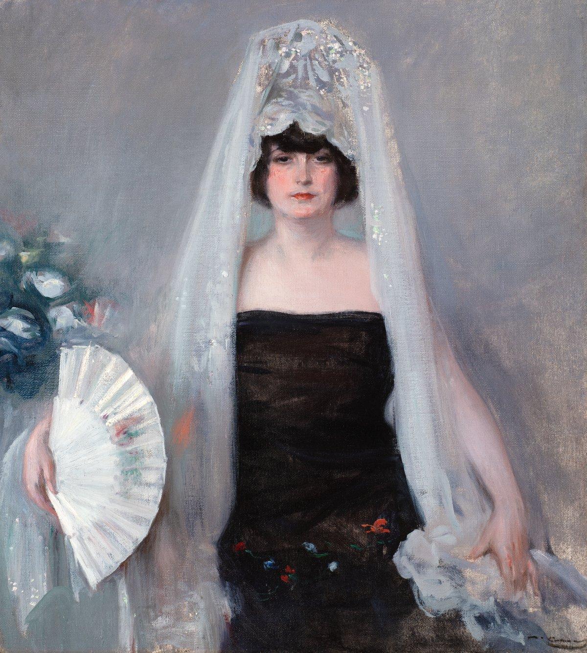 Julia Wearing a Mantilla