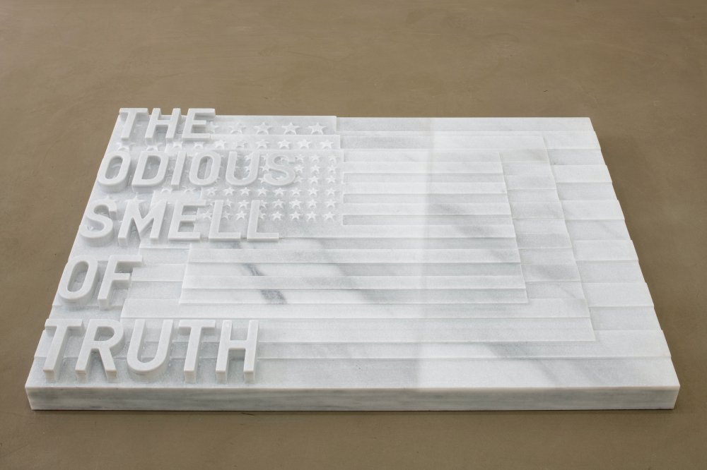 untitled 2020 (the odious smell of truth) (three flags, 1958)