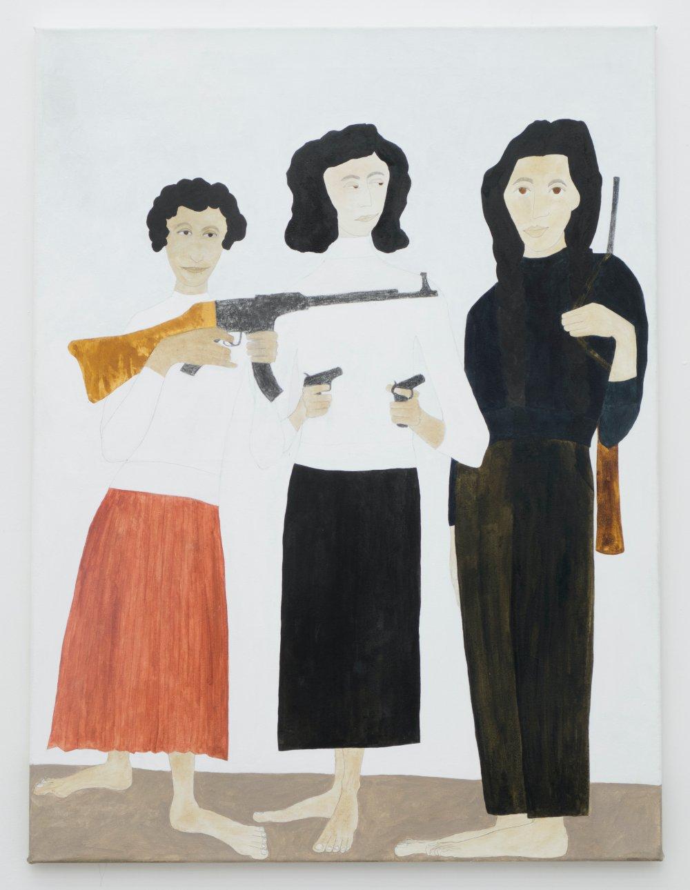 Zohra Drif, Djamila Bouhired and Hassiba Ben Bouali