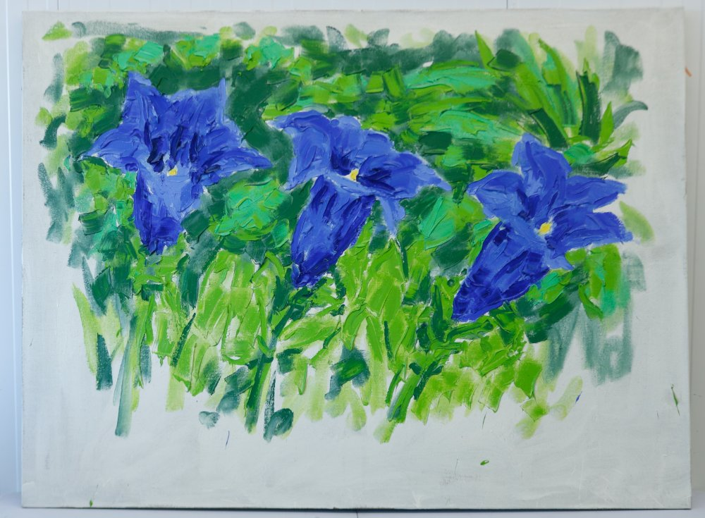 Untitled (Three Gentians)