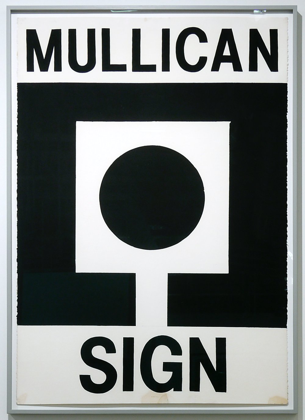 Untitled (Mullican poster: Sign)