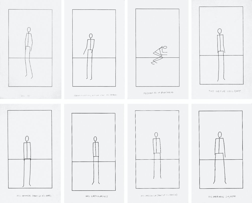 Untitled (Set of 8 Stick Figures)