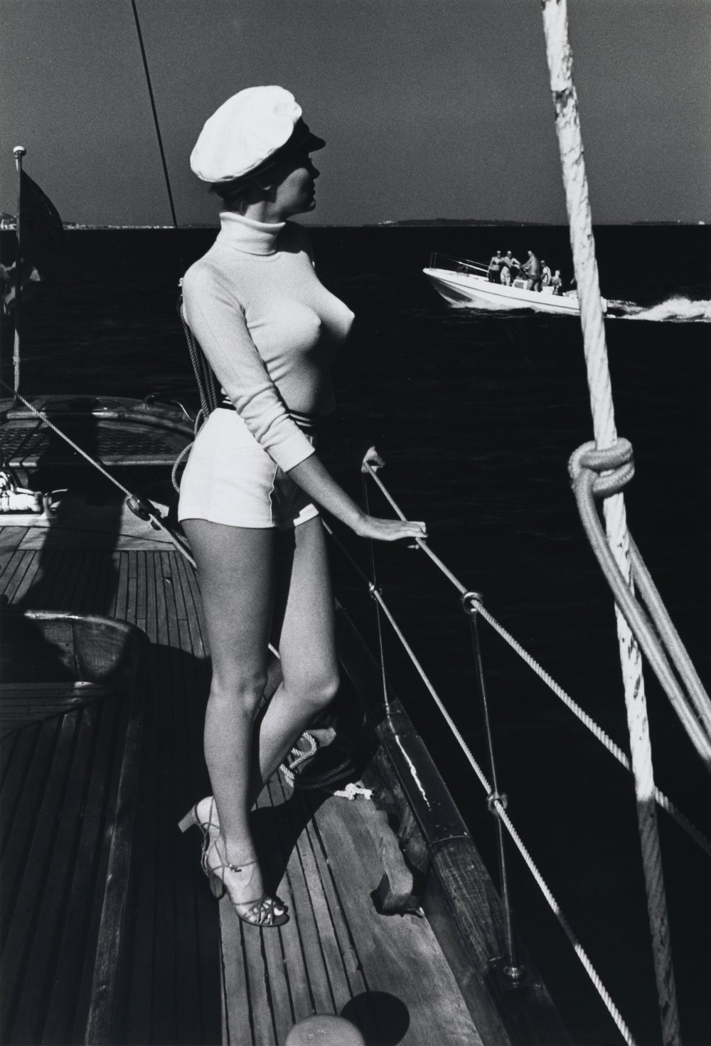 Winnie on Deck, Off the Coast of Cannes, 1975